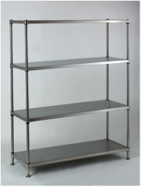 akcots solid steel shelving