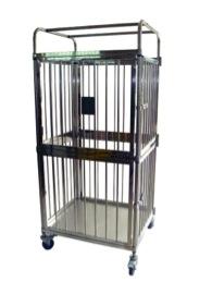 akcots steel laundry trolley