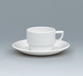 Character Cup and saucer stackable
