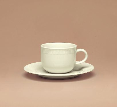Generation Cup and saucer embossed