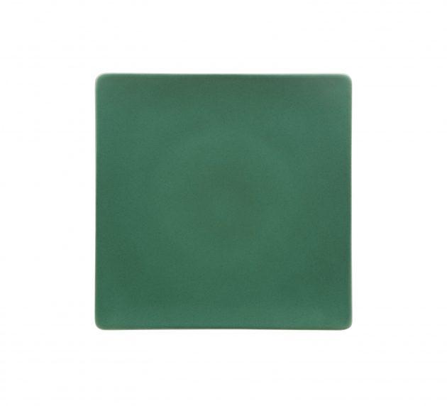 Plate Flat Coupe Square Jade