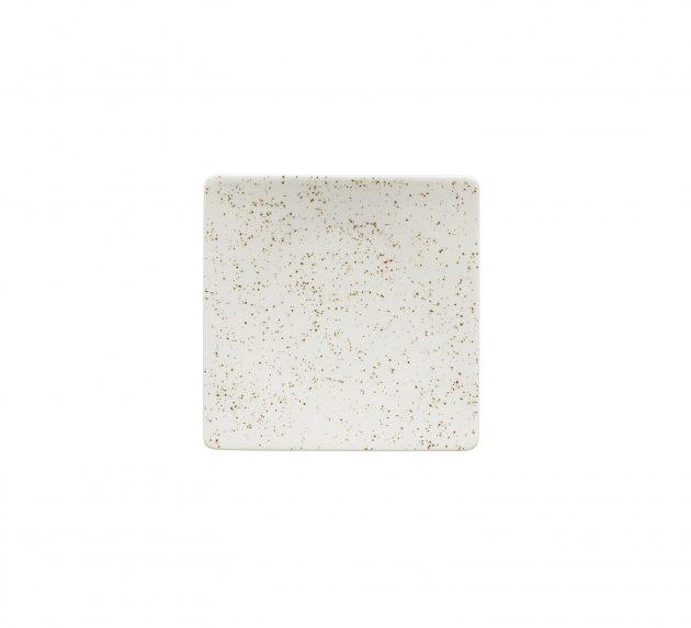 Plate Semi Deep Coupe Square Unique White